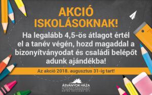 Akció iskolásoknak!